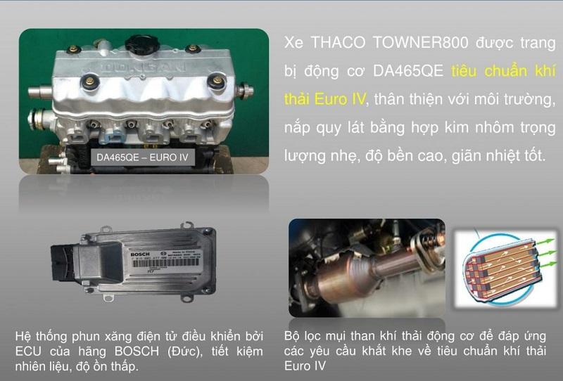 Đặc tính kĩ thuật xe tải thaco towner 800