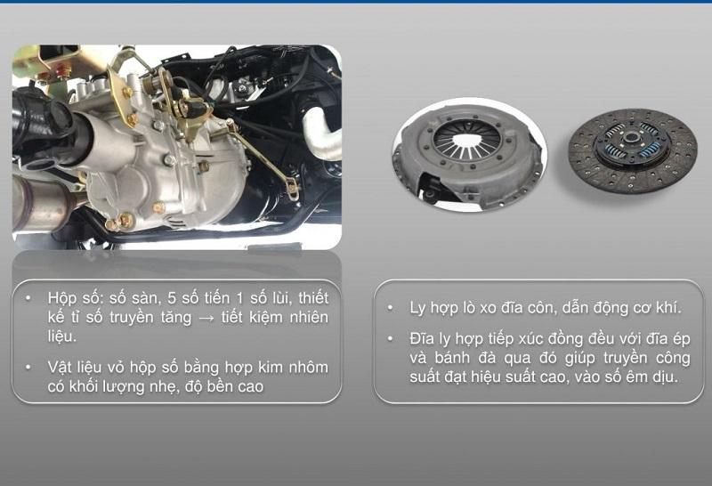 Đặc tính kĩ thuật xe tai thaco towner 800