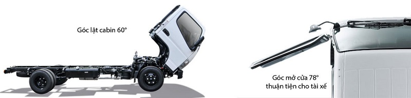 Cabin lật xe tải Mitsubishi Fuso Canter 4.99 E4
