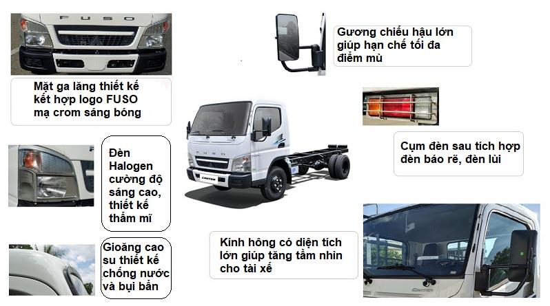 Ngoại thất xe tải mitsubishi Fuso Canter 4.99 E4