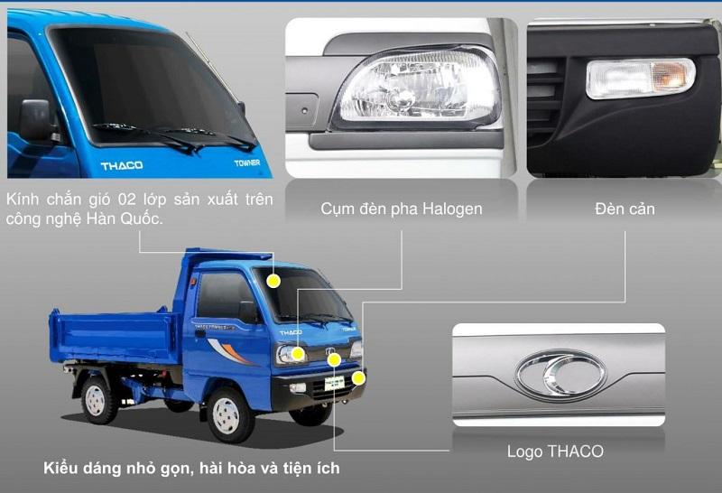 Ngoại thất xe tải thaco towner 800