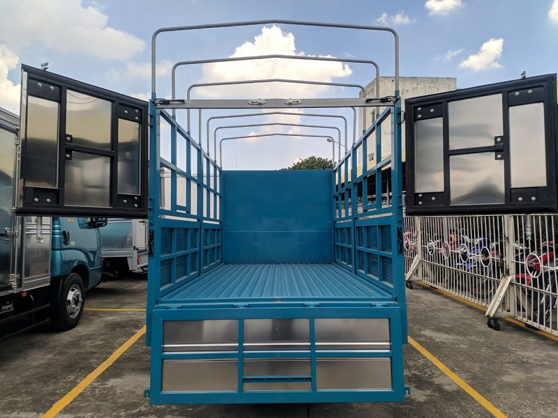 Thùng xe KIA K250 thùng mui bạt mở 5 bửng
