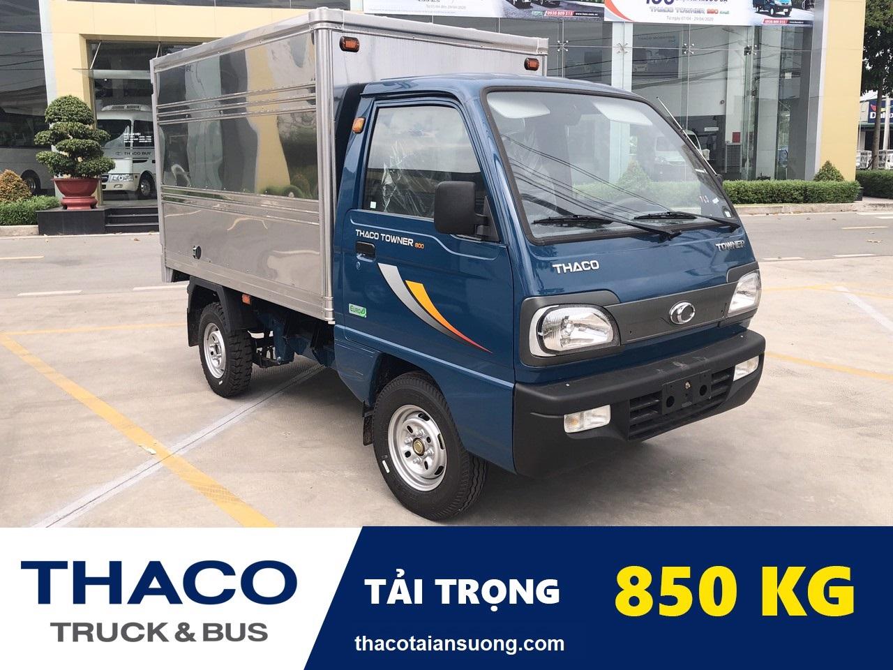 Xe tải thaco towner 800 thùng kín tai 850 – thaco an suong